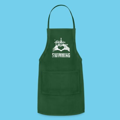 Dad's Swim Taxi, VINTAGE Youth Premium Tee - Adjustable Apron