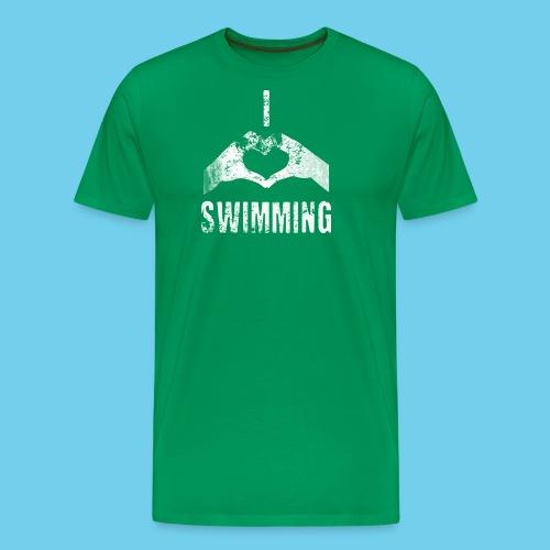 Dad's Swim Taxi, VINTAGE Youth Premium Tee - Men's Premium T-Shirt