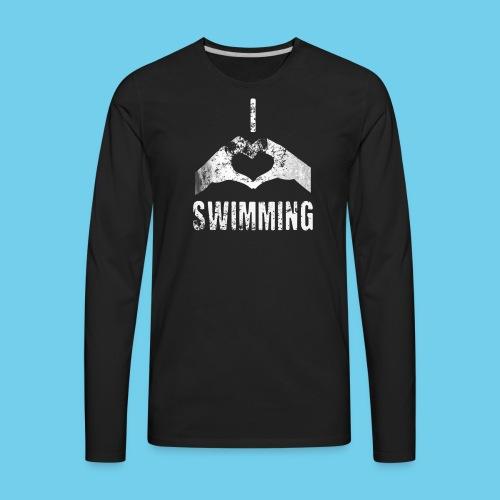 Dad's Swim Taxi, VINTAGE Youth Premium Tee - Men's Premium Long Sleeve T-Shirt