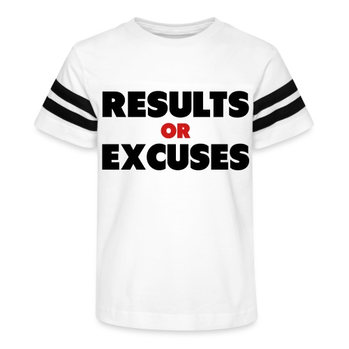 Results Or Excuses - Kid's Vintage Sport T-Shirt