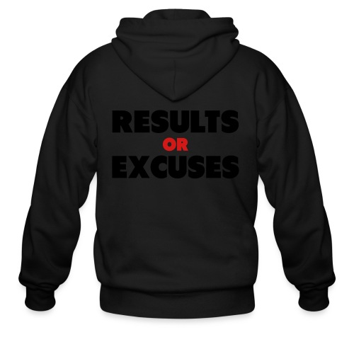 Results Or Excuses - Men's Zip Hoodie