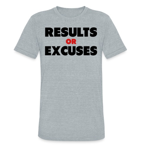 Results Or Excuses - Unisex Tri-Blend T-Shirt