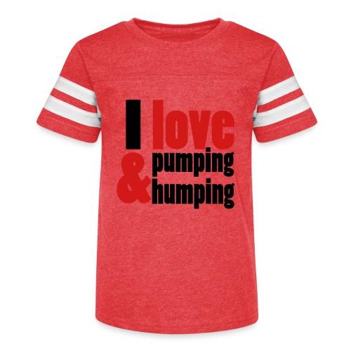 I Love Pumping - Kid's Vintage Sport T-Shirt