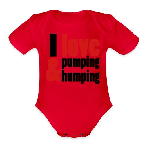 I Love Pumping - Organic Short Sleeve Baby Bodysuit