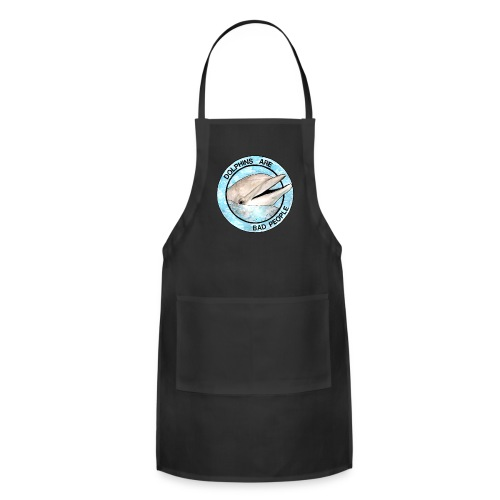 Dolphins Are Bad People Tote Bag - Adjustable Apron