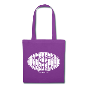 I Love Purple Pinstripes - Ladies V-Neck - Tote Bag