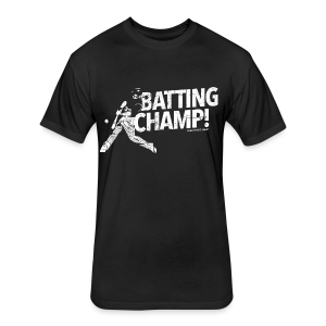Batting Champ - Mens T-shirt - Fitted Cotton/Poly T-Shirt by Next Level