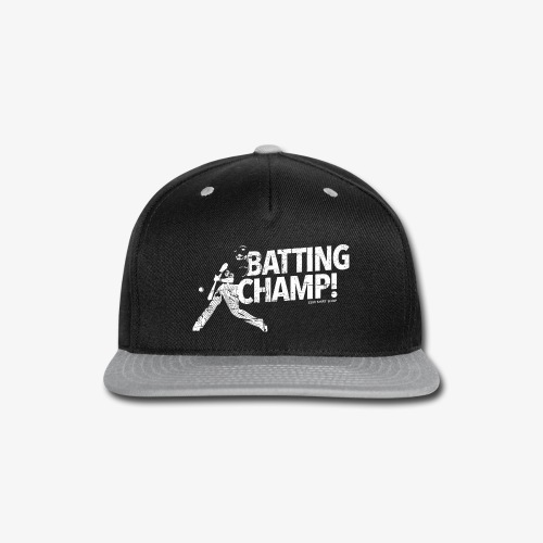 Batting Champ - Mens T-shirt - Snap-back Baseball Cap