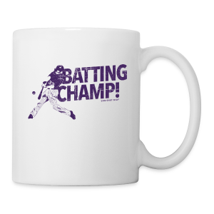 Batting Champ - Mens Baseball T-Shirt - Coffee/Tea Mug