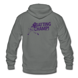 Batting Champ - Mens Baseball T-Shirt - Unisex Fleece Zip Hoodie by American Apparel