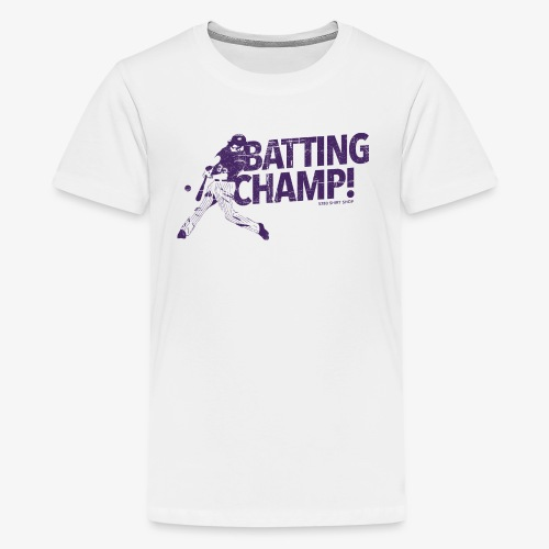 Batting Champ - Mens Baseball T-Shirt - Kids' Premium T-Shirt