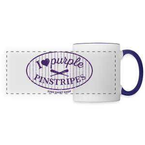 I Love Purple Pinstripes - Ladies Longer Length Fitted Tank - Panoramic Mug
