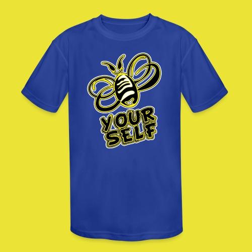 Bee-Yourself (kids) - Kid's Moisture Wicking Performance T-Shirt