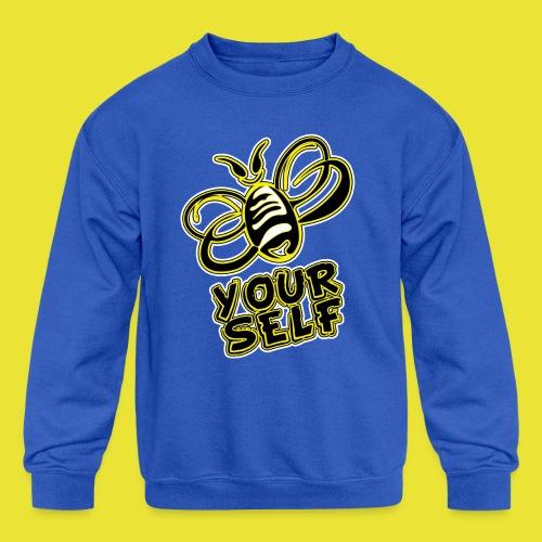 Bee-Yourself (kids) - Kid's Crewneck Sweatshirt