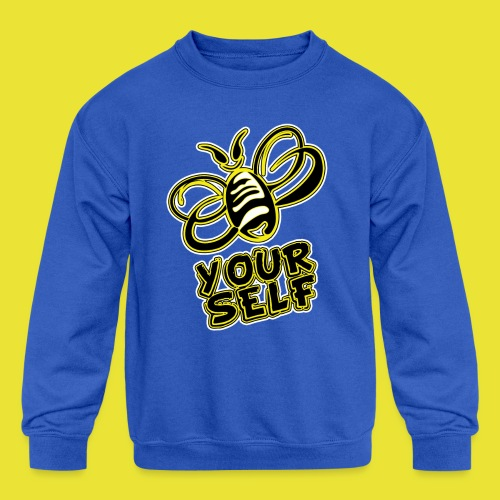 Bee-Yourself (kids) - Kids' Crewneck Sweatshirt