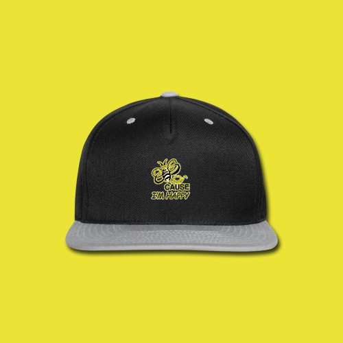 BeeCause-I'm-Happy (ladies) - Snap-back Baseball Cap
