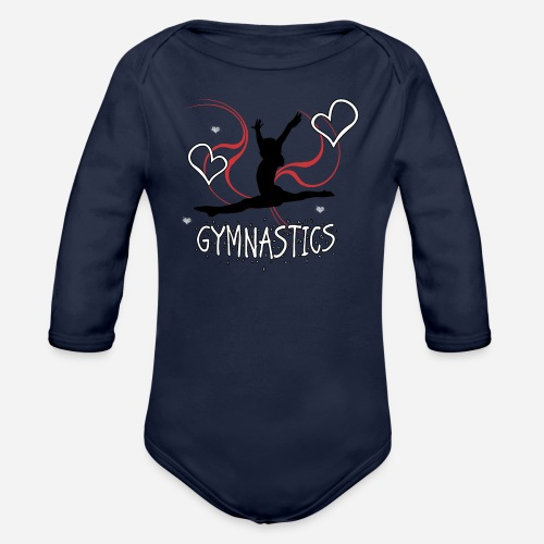 Gymnastics T-Shirt - Organic Long Sleeve Baby Bodysuit