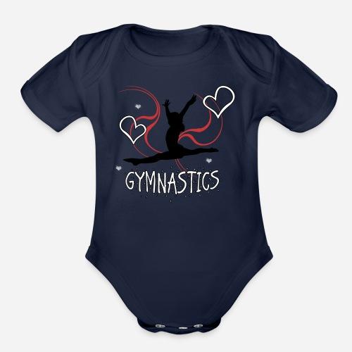 Gymnastics T-Shirt - Organic Short Sleeve Baby Bodysuit