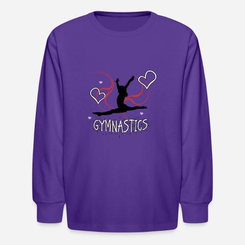 Gymnastics T-Shirt - Kids' Long Sleeve T-Shirt