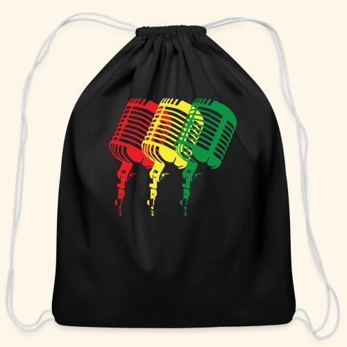 Reggae microphones - Cotton Drawstring Bag
