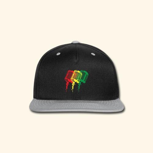Reggae microphones - Snap-back Baseball Cap
