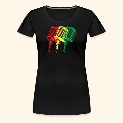 Reggae microphones - Women's Premium T-Shirt