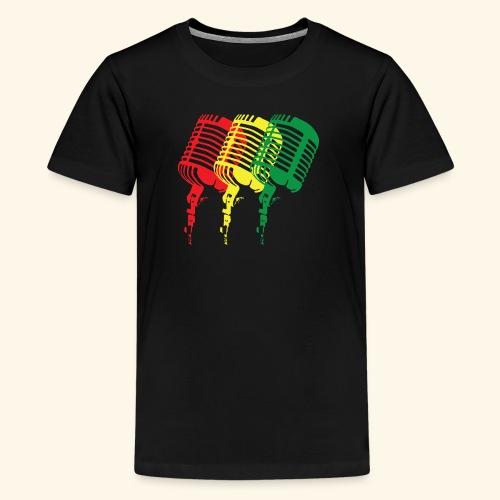 Reggae microphones - Kids' Premium T-Shirt