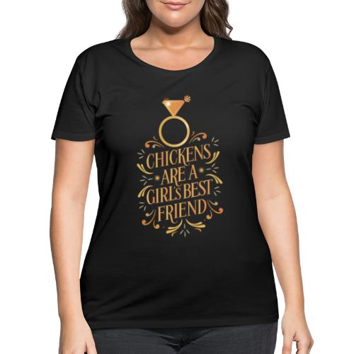 Chickens are a girls… - Women's Curvy T-Shirt