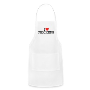 I heart chickens - Adjustable Apron