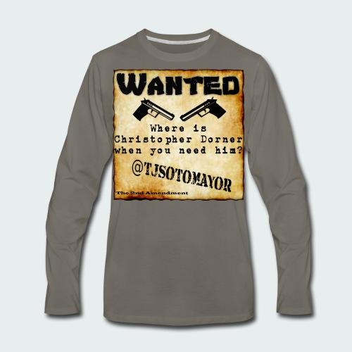 Where is Christopher Dorner - Men's Premium Long Sleeve T-Shirt