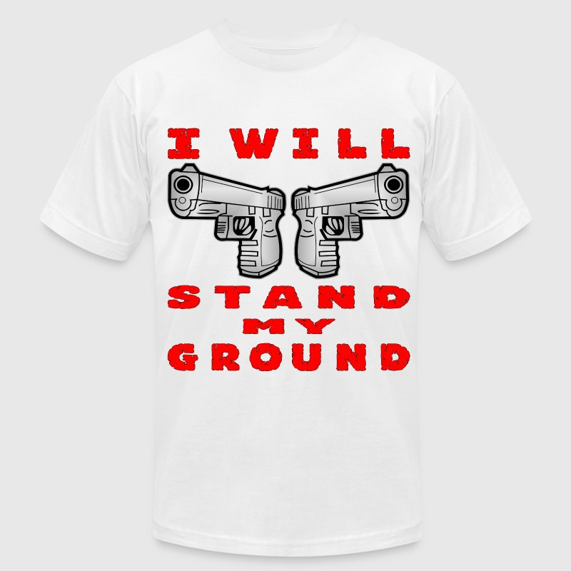 I Will Stand My Ground Auto Pistols - Men's T-Shirt by American Apparel