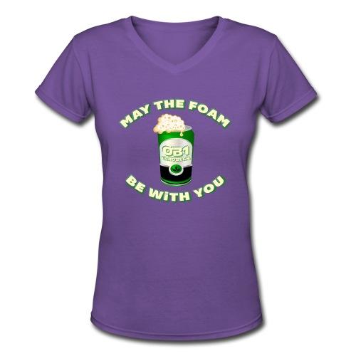 OB1 CANOBEER - Women's V-Neck T-Shirt
