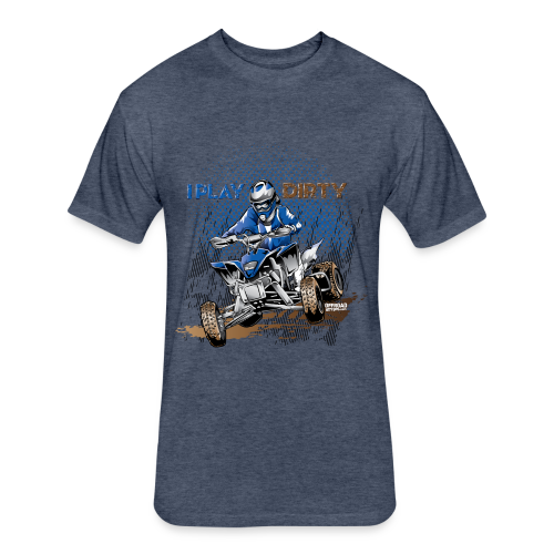 Dirty ATV Racer - Fitted Cotton/Poly T-Shirt by Next Level