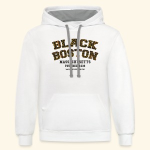 Black Boston Gold Massachusetts Classic T  - Contrast Hoodie