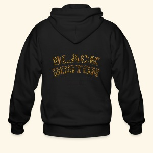 Black Boston Gold Massachusetts Classic T  - Men's Zip Hoodie