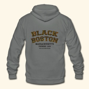 Black Boston Gold Massachusetts Classic T  - Unisex Fleece Zip Hoodie by American Apparel