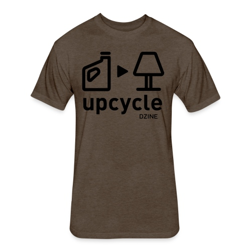 Upcycle Carton to Lamp t-shirt - Fitted Cotton/Poly T-Shirt by Next Level