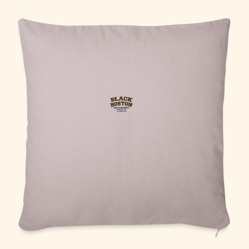 Boston Black Coffee Mug a Black Boston souvenir - Throw Pillow Cover