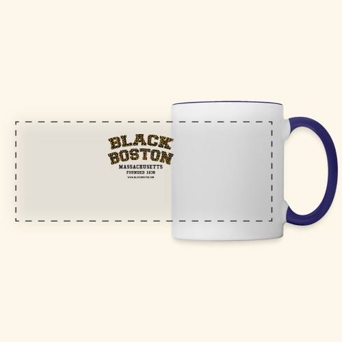 Boston Black Coffee Mug a Black Boston souvenir - Panoramic Mug