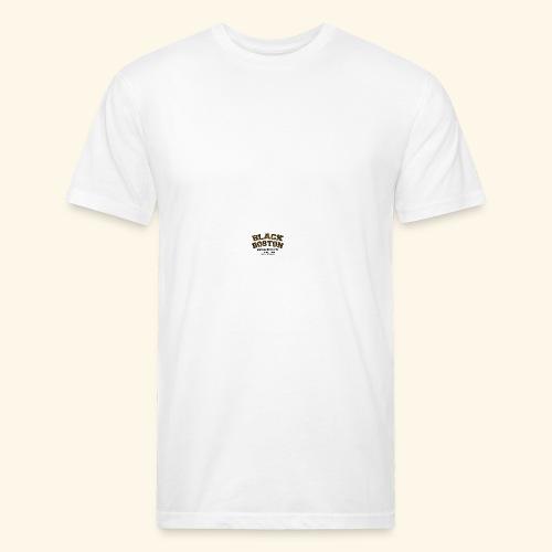 Boston Black Coffee Mug a Black Boston souvenir - Fitted Cotton/Poly T-Shirt by Next Level
