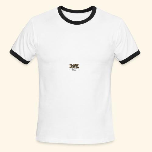 Boston Black Coffee Mug a Black Boston souvenir - Men's Ringer T-Shirt