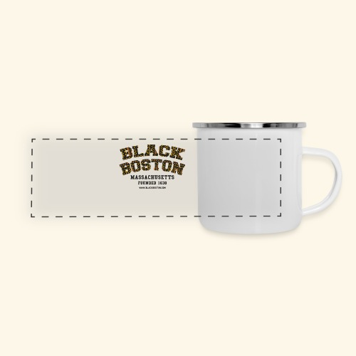 Boston Black Coffee Mug a Black Boston souvenir - Panoramic Camper Mug