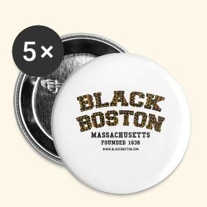 Boston Black Coffee Mug a Black Boston souvenir - Small Buttons