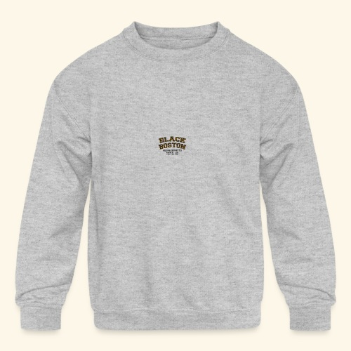 Boston Black Coffee Mug a Black Boston souvenir - Kid's Crewneck Sweatshirt