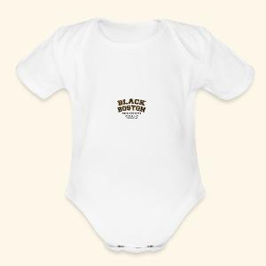 Boston Black Coffee Mug a Black Boston souvenir - Short Sleeve Baby Bodysuit