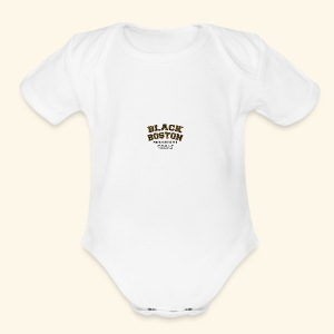 Boston Black Coffee Mug a Black Boston souvenir - Short Sleeve Baby Bodysuit