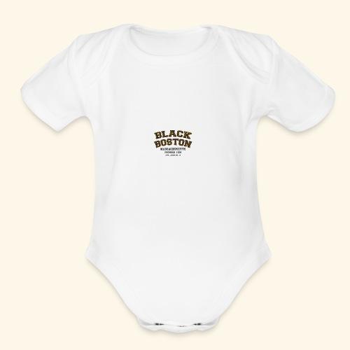 Boston Black Coffee Mug a Black Boston souvenir - Organic Short Sleeve Baby Bodysuit