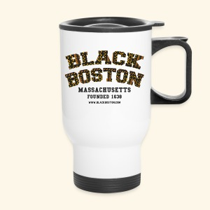 Boston Black Coffee Mug a Black Boston souvenir - Travel Mug