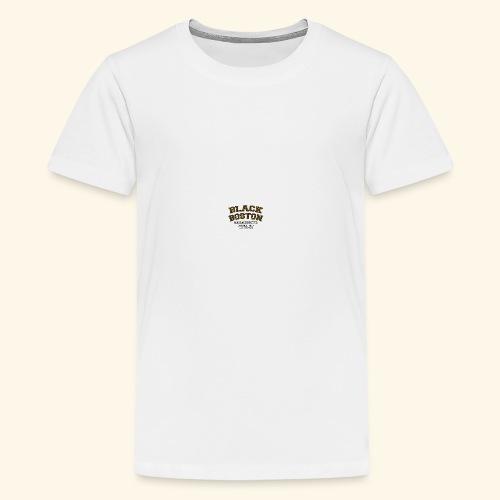 Boston Black Coffee Mug a Black Boston souvenir - Kids' Premium T-Shirt