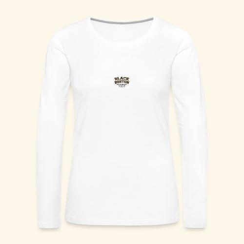 Boston Black Coffee Mug a Black Boston souvenir - Women's Premium Long Sleeve T-Shirt